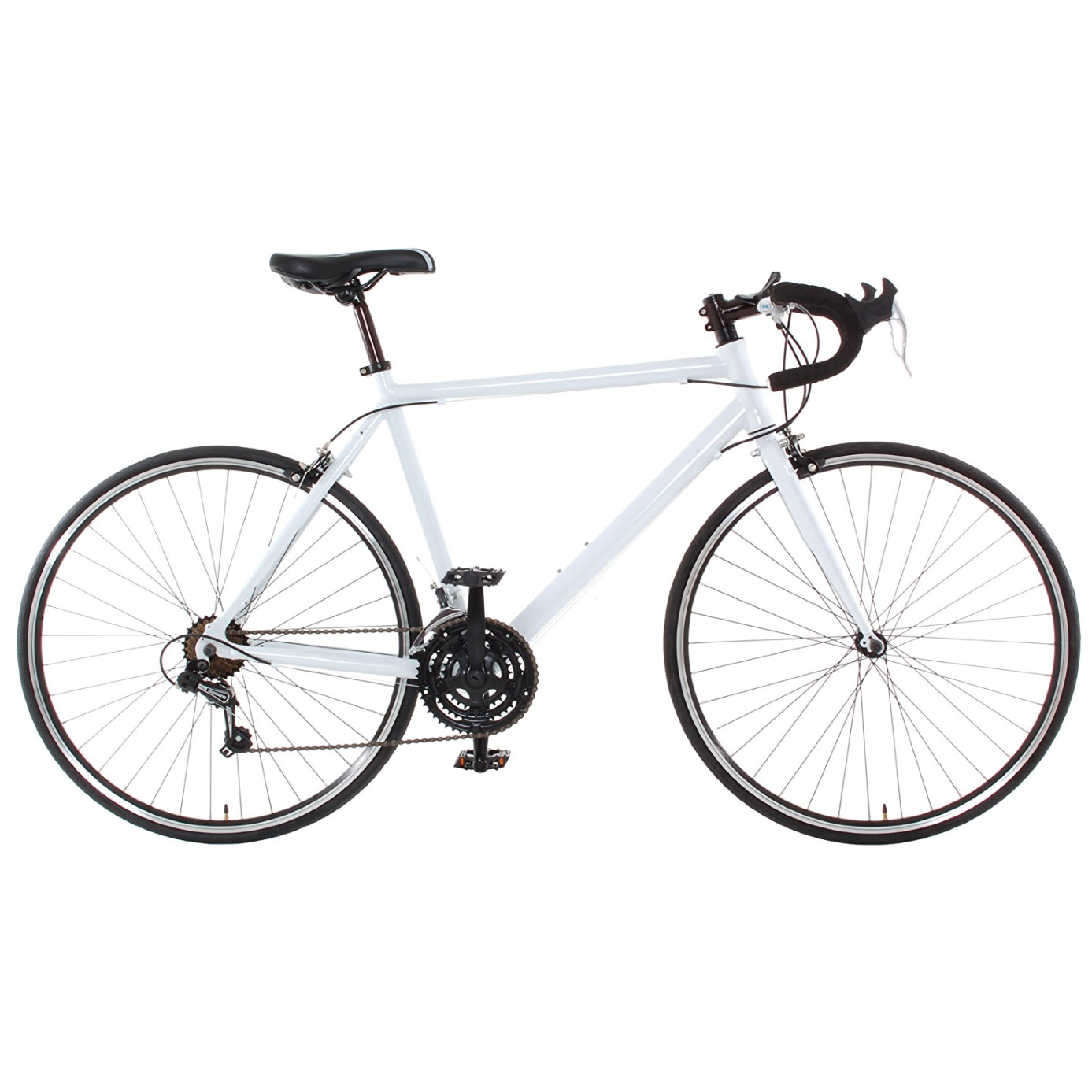 Vilano - Aluminum Road Bicycle Shimano 21-Speed 700C, White, Small, 50cm