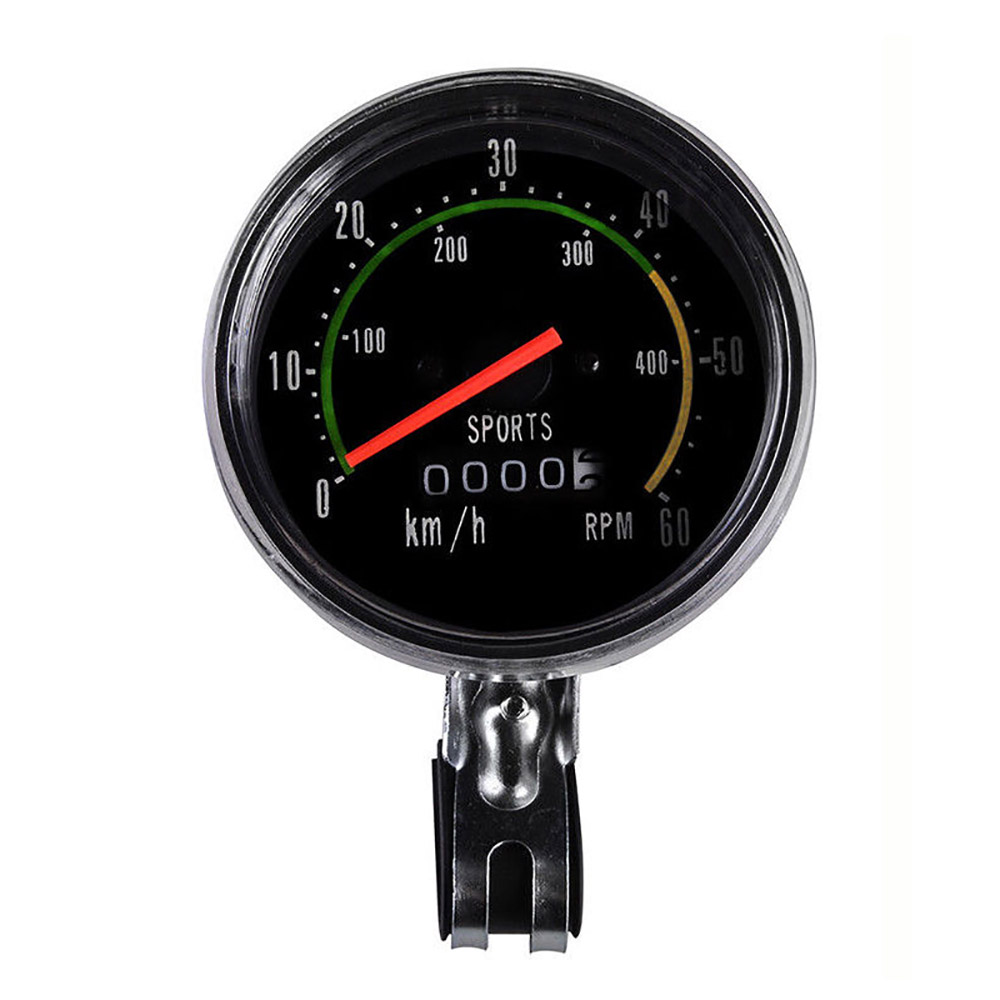 Vintage Style Bicycle Analog Speedometer Odometer