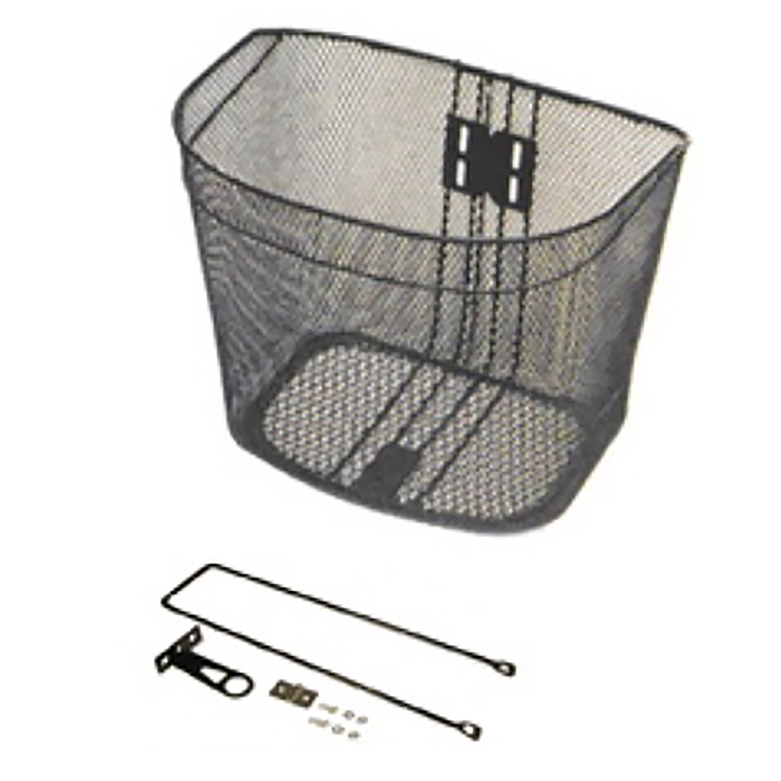 Black Front Steel Basket